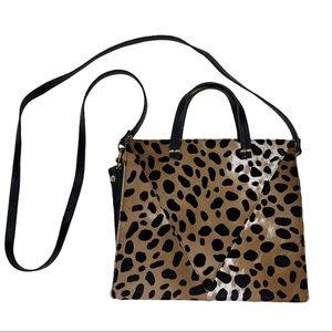 Clare V. Petit Simple Tote Bag Leopard Purse